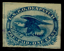 F8/97 US Stamps LO5 1875 Carries Blue Imperf Used? LHNG Very Nice Fresh Coll