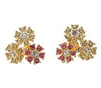 Very pretty crystal flower stud earrings