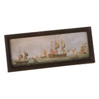 1:12 Dollhouse Miniature Vintage Plain Sailing Mural Wall Picture Decoration