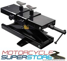 MOTORCYCLE MOTOBIKE 500KG WORKSHOP HOME GARAGE SCISSOR LIFT JACK STAND BLACK