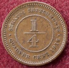Straits Settlements quart cent 1916 (C2303)