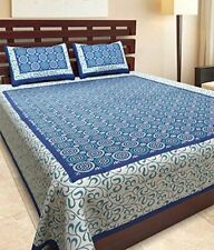 100% Pure Cotton Supreme Quality King Size Double Bedsheet with 2