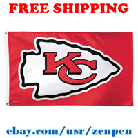 Deluxe Kansas City Chiefs Team Logo Flag Banner 3x5 ft NFL Football 2019 NEW
