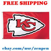 Deluxe Kansas City Chiefs Team Logo Flag Banner 3x5 ft NFL Football 2019 NEW