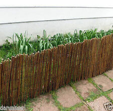 Natural Willow Edging Outdoor Garden Fencing Border Wooden Roll - H20cm x L1m