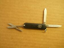 A lot of 4 Victorinox Classic SD Swiss Army knife in black  - appear unused