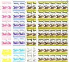 1907 GWR LODE STAR 4-6-0 Train Progressive Proof 50-Stamp Sheets x 8 (Imperf)