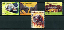 Botswana 2015 MNH African Buffalo 4v Set Buffalos Lions Wild Animals Stamps