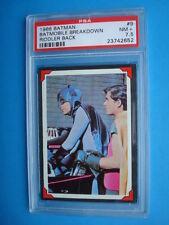 Topps 1966 *BATMAN  Riddler Back* PSA 7.5 Card #9 Batmobile Breakdown *Adam WEST