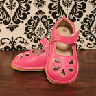 Hot Pink Flower Punch Girls Mary Jane Squeaky Shoes, Size 3 4 5 6 7 8 9