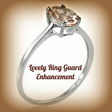 TGW 1.25 Cts. Marropino Genuine Morganite (Ovl) Solitaire Ring