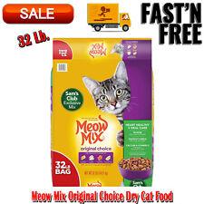 Meow Mix Original Choice Dry Cat Food Heart Health & Oral Care Formula 32 Pound
