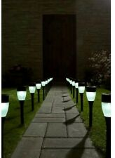 20 x Solar Powered  LED Path Lights Stakes Border Garden Patio