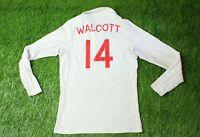 ENGLAND # 14 WALCOTT 2009-2010 FOOTBALL SHIRT JERSEY HOME UMBRO ORIGINAL YOUNG L
