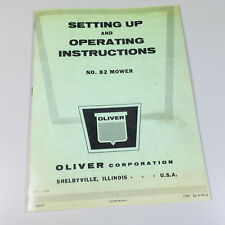 Oliver No 82 Sickle Bar Mower Operators Instructions Service Manual Hay Sickel
