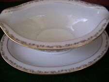 VINTAGE NORITAKI Gravy bowl with affixed dish, #6677 marked JAPAN CROMWELL
