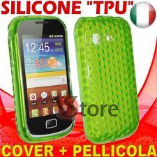 Cover Custodia Gel TPU Verde  Per Galaxy Pocket S5300 silicone