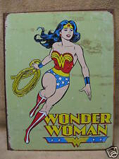 Wonder Women Retro Tin Metal Sign Marvel Comics NEW Super Hero