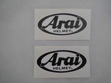 ARAI Helmet stickers - 2 x 108mm Printed & Laminated - Karting - Motorcycling