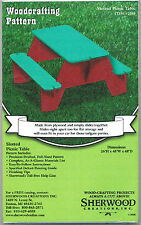 Slotted Picnic Table Woodworking Plans by Sherwood Creations
