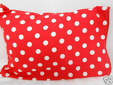 Child Toddler Cot Pillowcase Red Polka Dots! 100% Cotton
