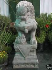 6+ FT tall Fiberglass FOO DOG w/ base outdoor statue