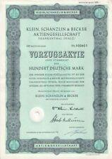 Klein,Schanzlin & Becker AG  100DM Frankenthal  1961  Vorzüge