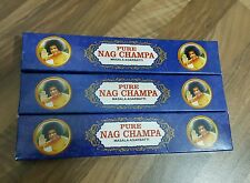 5 Origional Satya Sai Baba Nag Champa Masala Incense Sticks Joss Insence Insense