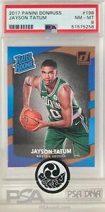 2017 NBA Panini Donruss #198 Jayson Tatum RC Rookie Card Graded PSA 8 NM-MT