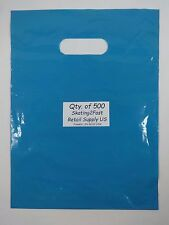 500 Qty. 9 x 12 Teal Glossy Low Density Merchandise Bag Retail Shopping Bags