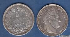 Louis Philippe Ier 1830-1848 – 5 Francs Tête Laurée 1834 D Lyon TB