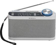 Roberts Portable AM/FM/LW Radio with Headphone Socket - Silver.