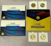 2019-2018 American Innovation $1 Update Set 10 Coins Total See Text Below