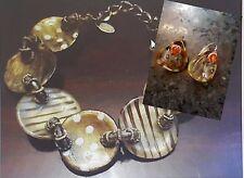 Artisan ORNA LALO Treasures Handmade Bracelet & Earring~Free shipping worldwide