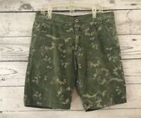 Foot Locker Size 34 Khaki Camouflage Shorts Camo Green Men's Long Army