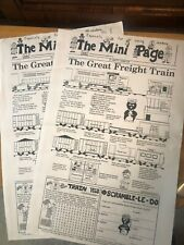"""""""THE GREAT FREIGHT TRAIN"""" The Mini Page - Betty Debnam 1982"""