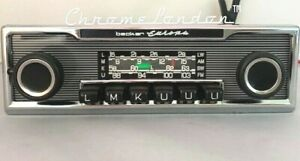 BECKER EUROPA Vintage Chrome Classic Car FM Radio +MP3 1YR WARRANTY Mercedes BMW