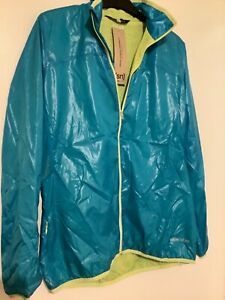 Super natural women's  mantis running / cycle sport jacket turquoise size medium