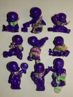 Lot de 9 figurines magic babies IDEAL el Greco violet PASTEL voir description.