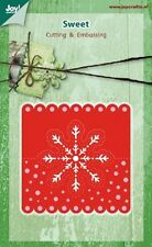 JOY CRAFTS CUTTING EMBOSSING DIE - SWEET - Head Card SNOWFLAKE 6002/0393 REDUCED