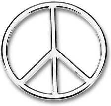 3D Chrome Peace Sign symbol Self Adhesive Emblem Decal Car Truck Motorcycle RV