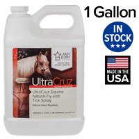UltraCruz Equine Natural Fly and Tick Spray for Horses, 1 Gallon Refill
