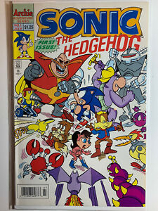 SONIC THE HEDGEHOG #1 (July 1993) Archie Adv. Comic, Rare, Excellent Condition
