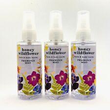 3-Pack Bath & Body Works HONEY WILDFLOWER Fragrance Mist Spray 3 oz Travel Size