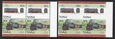 Tuvalu 1985 Railway Locomotives 4th Series 30c SG 317a IMPERF Pair + normal U/M