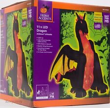 Halloween 9 ft Projection Fire & Ice Dragon with Animated Wings Inflatable NIB