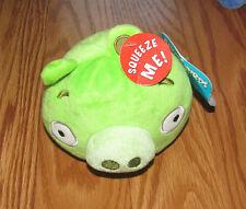 "NEW Angry Birds Plush Pig Stuffed Animal Bird Toy Bad Piggies 4.5"" NWT"