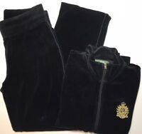 Ralph Lauren Vintage Track Suit Petite Lg=Top Small=Bottom Velvet Crested