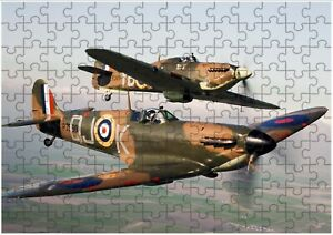 Spitfire RAF A4 JIGSAW Puzzle Birthday Christmas Gift (Can Be Personalised)