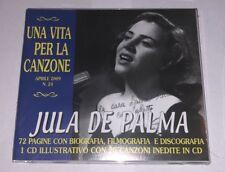 """JULA DE PALMA """"UNA VITA PER LA CANZONE"""" RARO CD + BOOKLET (SIGILLATO)"""